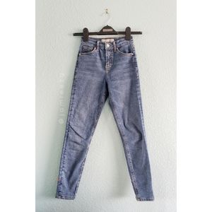 "Topshop (Petite)   ""Jamie"" Embroidered Skinny Jean"